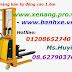 Xe nâng bán tự động 1500kg nâng cao 1.6m giá sốc - www.xenang.pro.vn - 01208652740 Huyền