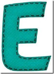 e letras verdes