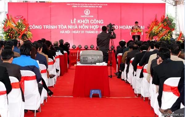 Lễ khởi công chung cư Hateco Hoàng Mai