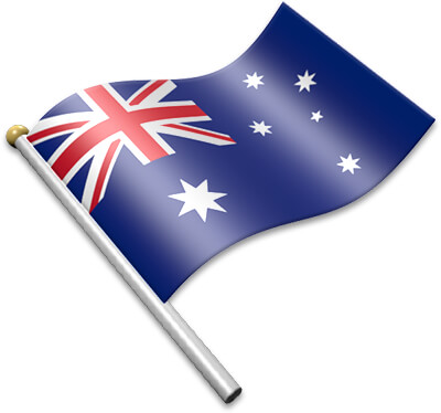 The Australian flag on a flagpole clipart image
