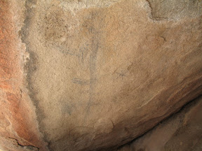 Exposure to the elements has taken its' toll on the pictographs closer to the entrance.