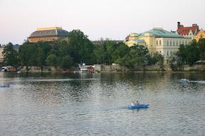 The River Vitava at dusk