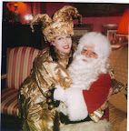 Gold Jester with Santa