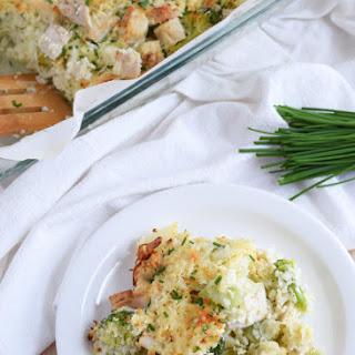 Broccoli & Cauliflower Rice Chicken Casserole.