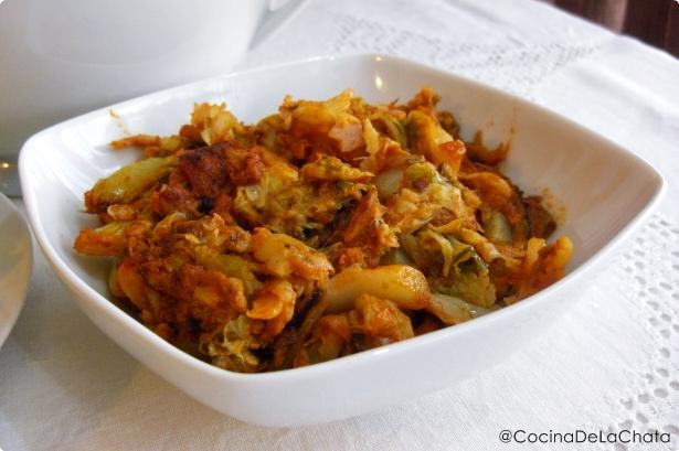 Ingredientes para el cocido madrileño