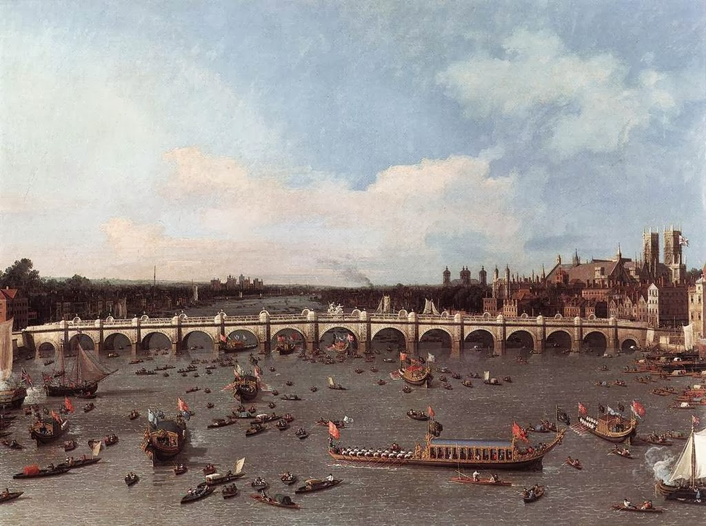 Canaletto - Westminster Bridge 1746