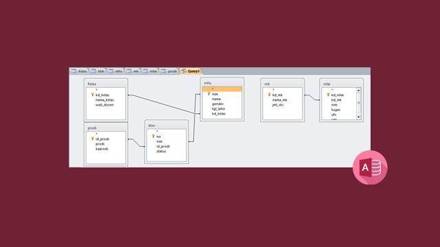 Membuat Query dan Menampilkan Relasi Table - Microsoft Access