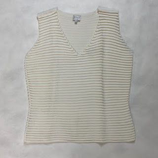 Armani Collezioni Knit  White V Neck top