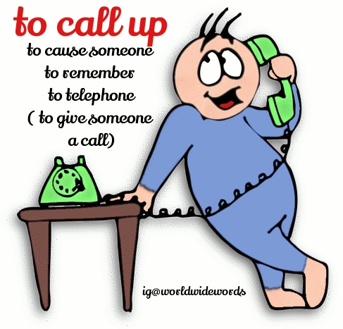 Phrasal Verb of Call Up