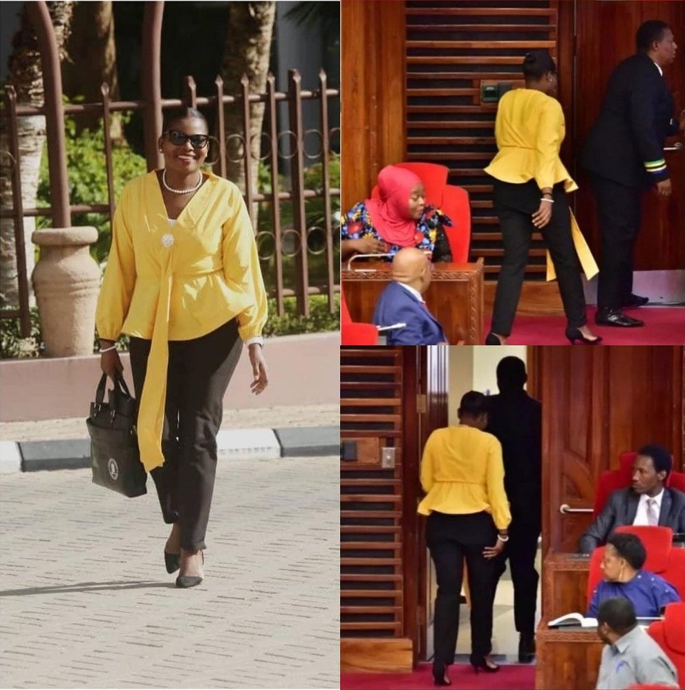 Tanzania female Member of Parliament is berated and thrown out from parliament for wearing trousers