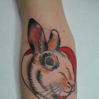 heart arm - Rabbit Tattoos Pictures