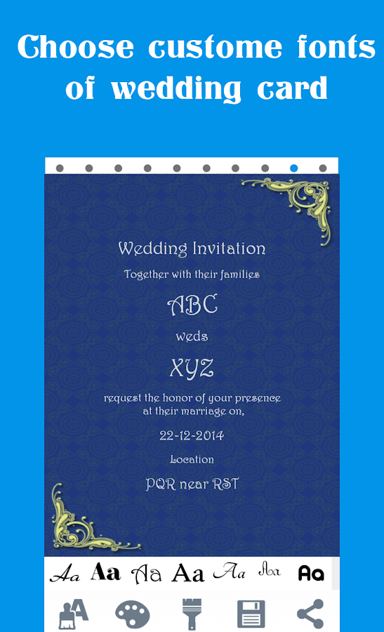 Online Wedding Invitation Sample