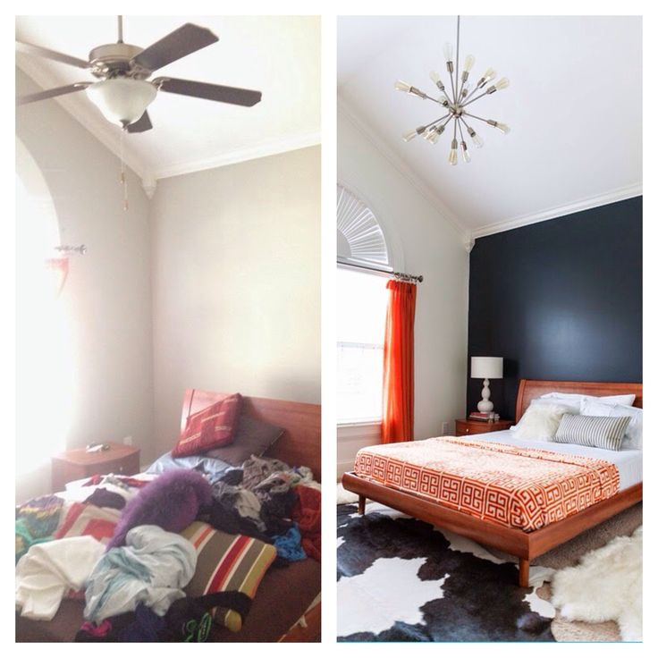 Before and after-guest bedroom
