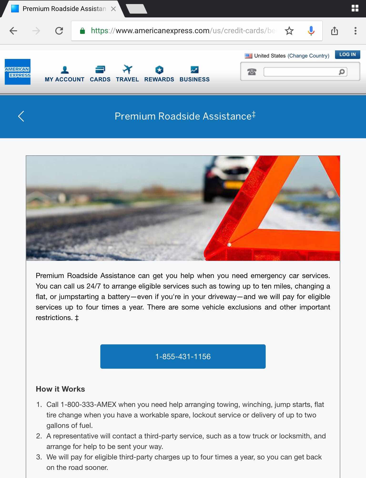 American Express Premium Roadside Assistance