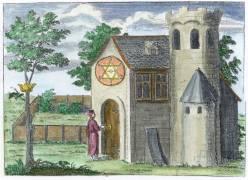 Engraving From Der Hermetische Philosophus Oder Haupt Schlussel 1709, Alchemical And Hermetic Emblems 2