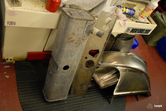 Photo: sheet metal parts back from the paint strippers