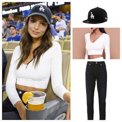Emily Ratajkowski at LA Dodgers Game on October 20