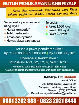 Jasa Penukaran Uang Riyal Bandung