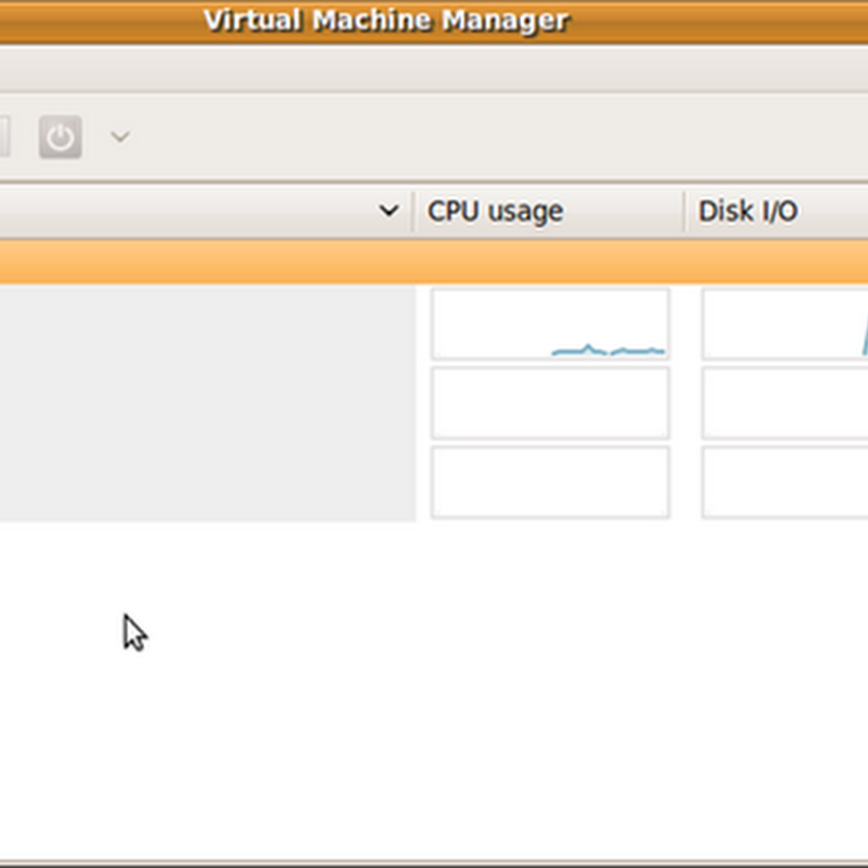 Virt Manager desktop application for managing virtual machines.