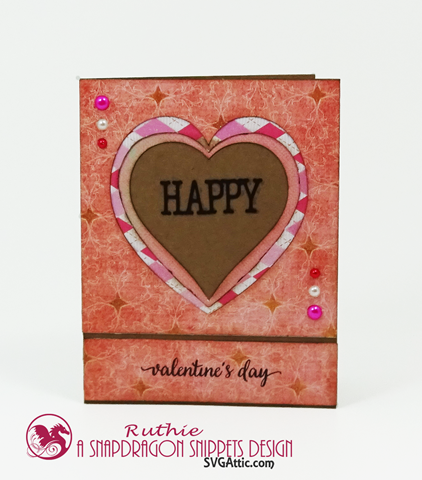 A2 INWARD HEART CARD, snapDragon Snippets, Ruthie Lopez