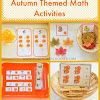 Autumn Themed Preschool Math Activities