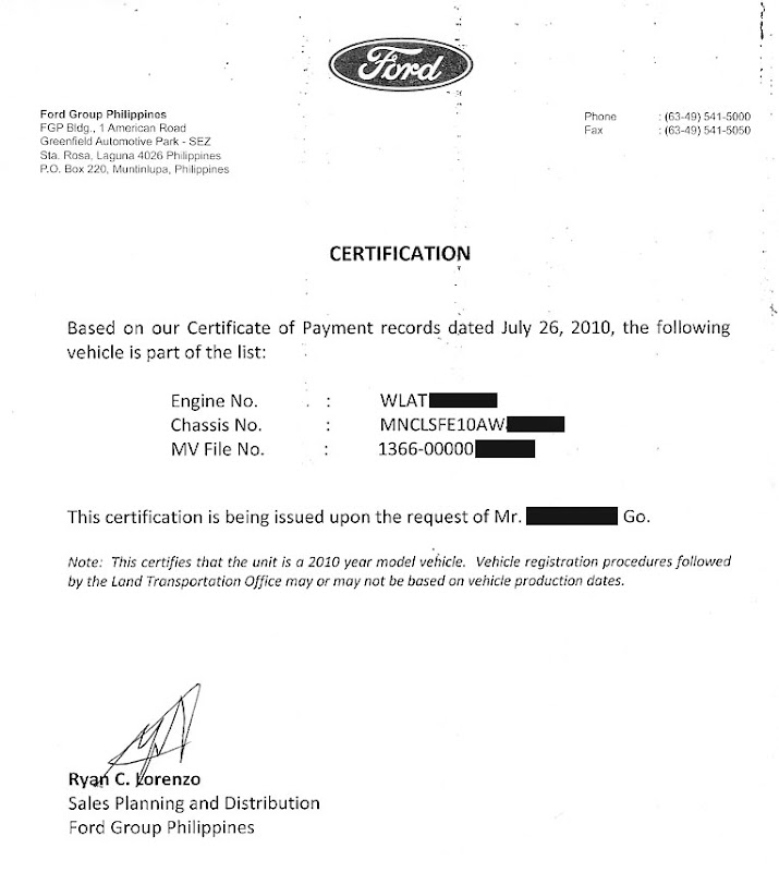 Ford Club Philippines View Topic New Ford Owners Have You