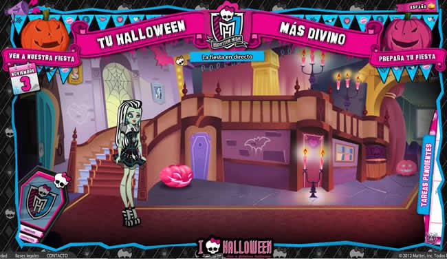 Frankie te ayuda a preparar tu Fiesta de Halloween recorriendo el Instituto Monster High con ella y encontrando todo lo que busca.