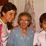 Rochelle Zegal (my mother), Auntie Sarah and me, Hessel, pulling funny faces..jpg