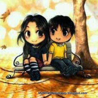 Cartoon Romantic Boy Girl image
