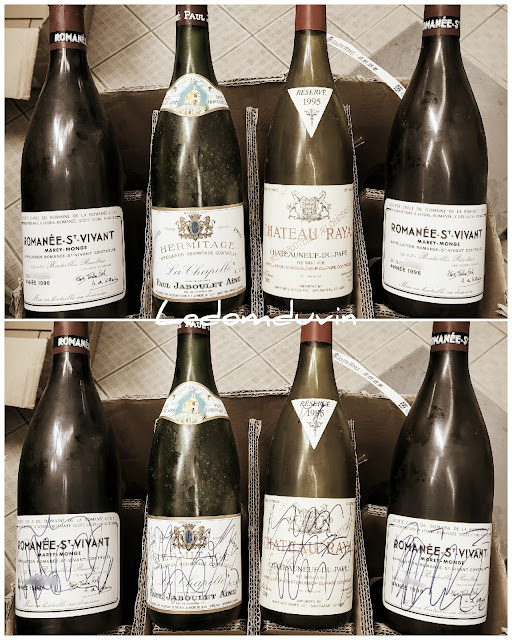 Discarding expensive empty bottles of wine by and for ©LeDomduVin 2021