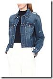 MO&CO distressed cropped denim jacket