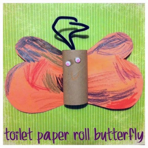 toilet paper roll butterfly- kid craft