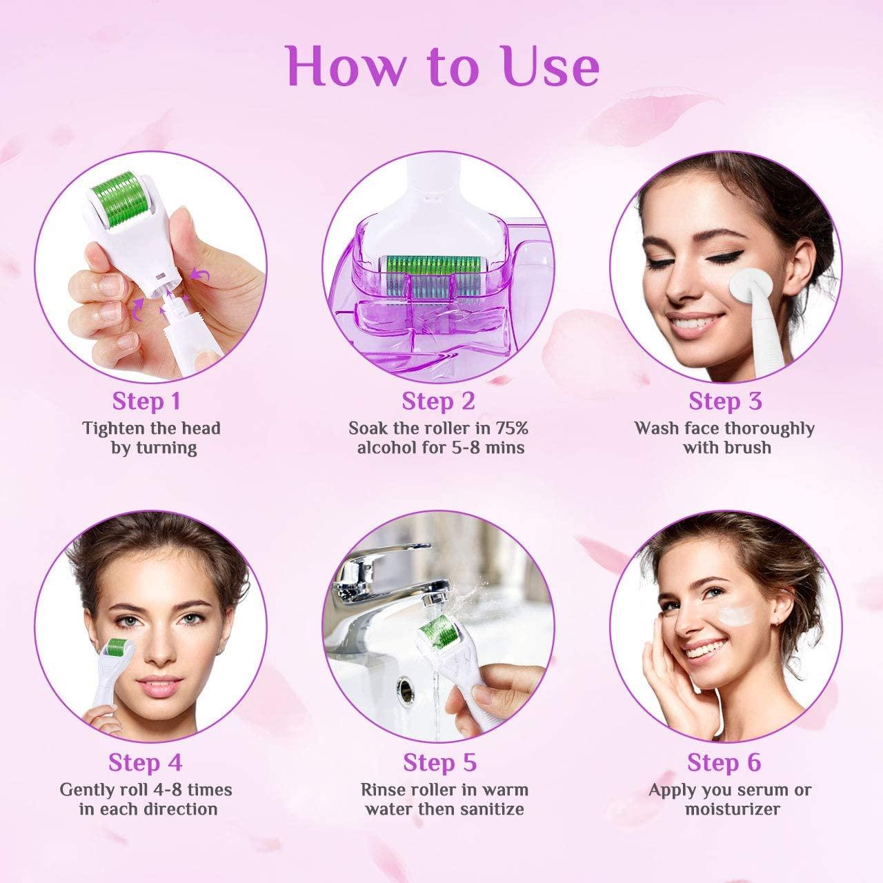 Rodillo de tratamiento facial antiedad