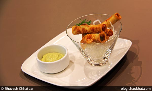 Western Cigarillos with Dip served at 212 All Day Cafe & Bar at Phoenix Marketcity in Pune