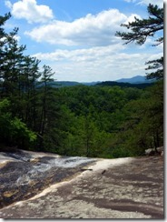 From the top of Stone Mountain Falls