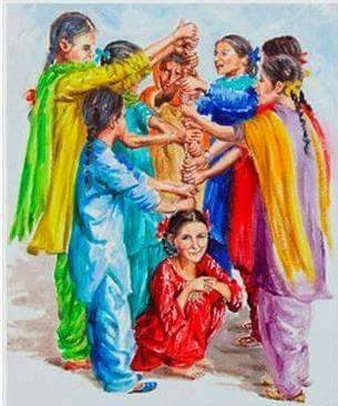 Punjabi girls playing