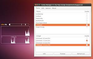 Conky Manager su Ubuntu 13.04 Raring