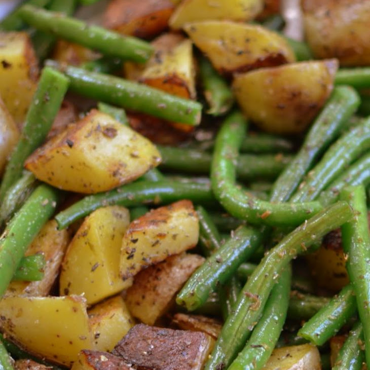 Pan Fried Potatoes and Green Beans Recipe