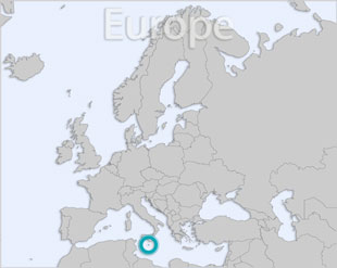 Malta location map