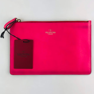 """CLEARANCE"" Valentino Medium Hot Pink Pouch"