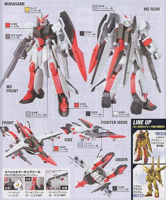 Có thể xây dựng lên các tư thế đẹp mắt cho Murasame HG Gundam Seed 39