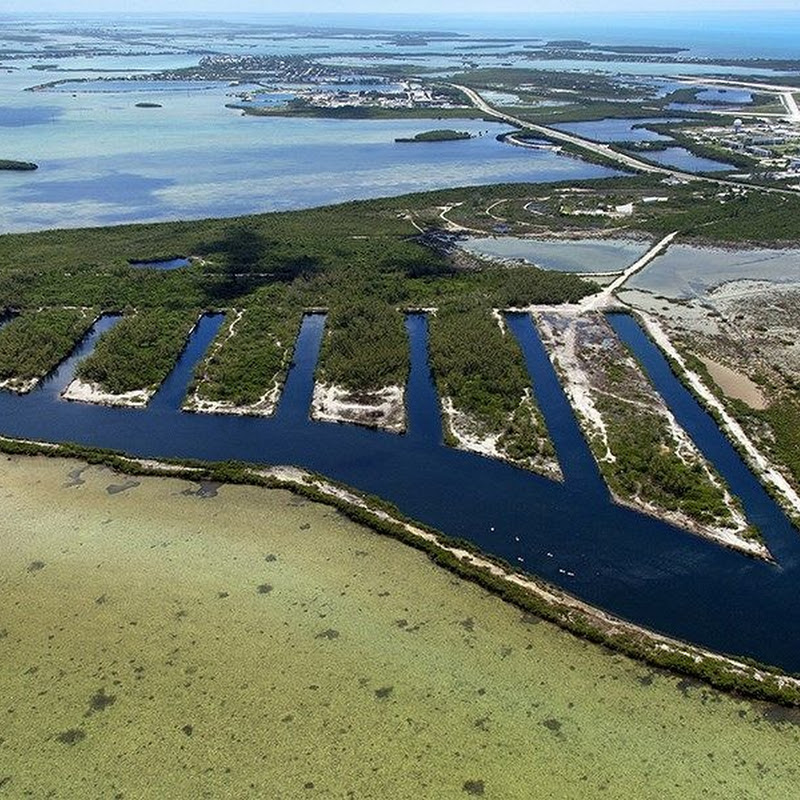 "The ""Submarine Pits"" on Boca Chica Key"