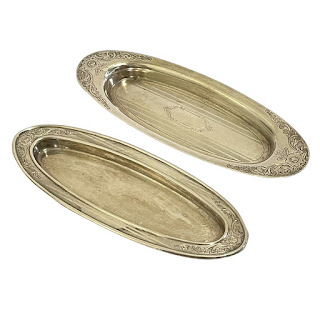 Sterling Silver Oval Trinket Dish Pair