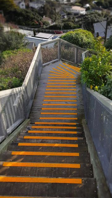 Orange descending steps