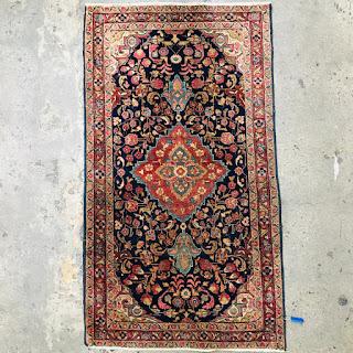 Kashan Wool & Silk Small Area Rug