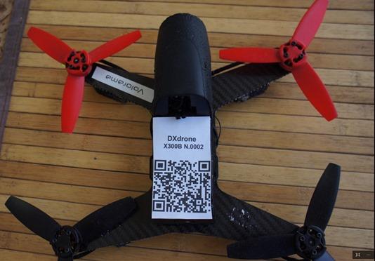 targhetta elettronica droni