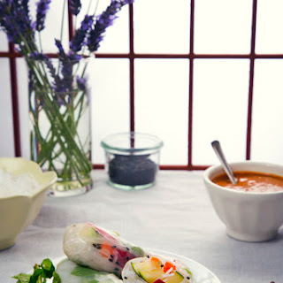 Vegan Vietnamese Summer Rolls with Peanut Dipping Sauce