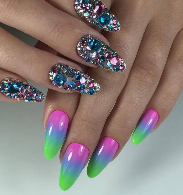 Beauty Of Colorful Nail Art Designs 2019 Fashion 2d