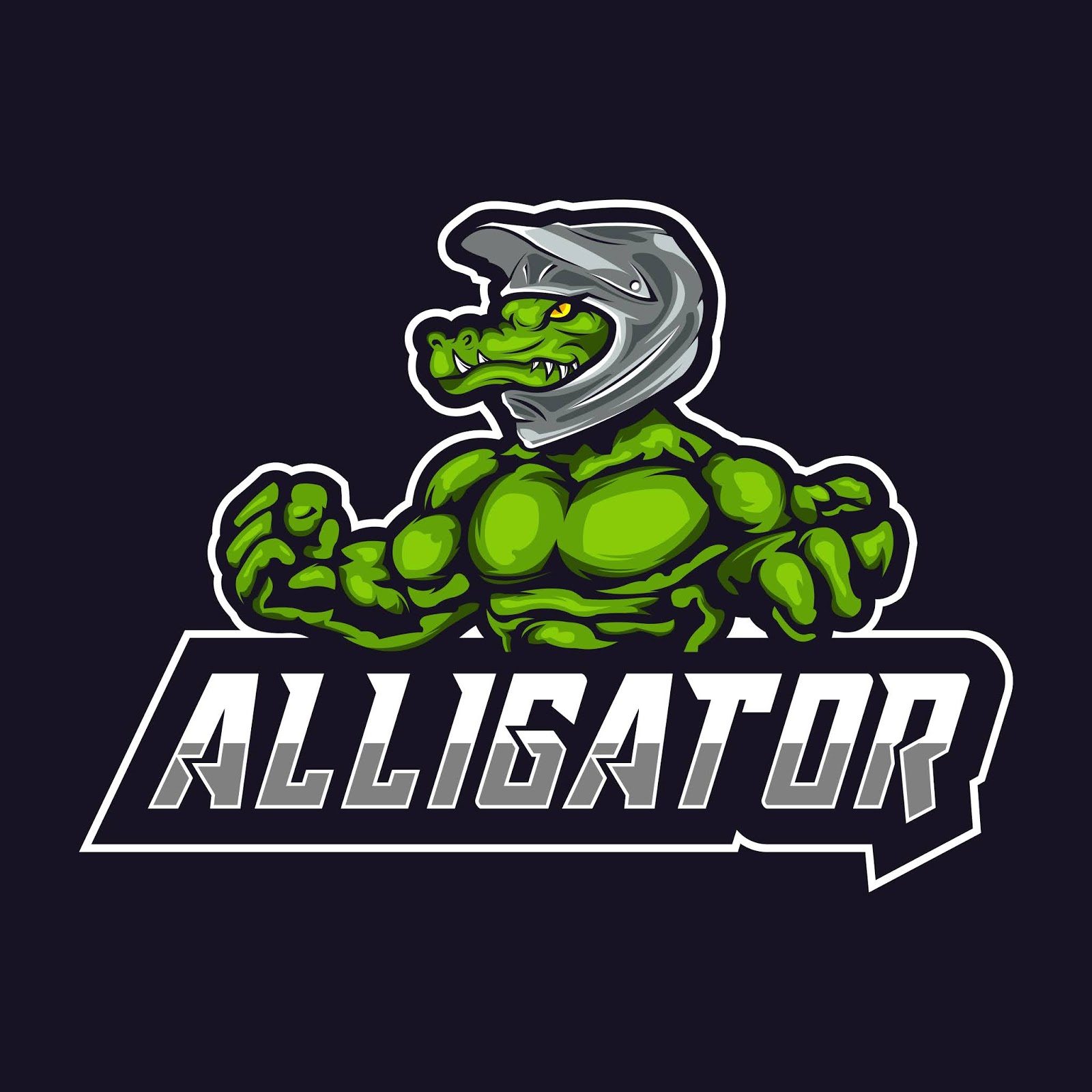 Alligator Mascot Logo Free Download Vector CDR, AI, EPS and PNG Formats