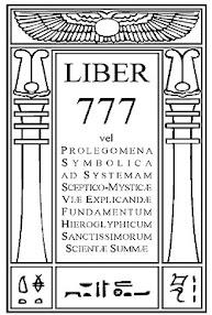 Cover of Aleister Crowley's Book Liber 777 Vel Prolegomena Symbolica Ad Systemam Sceptico Mysticae